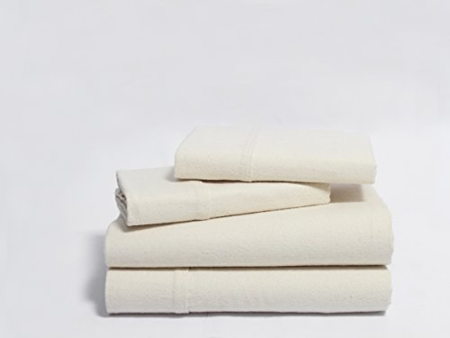 tureSoft Organic Cotton Flannel Sheet Sets - Queen - Natural ()