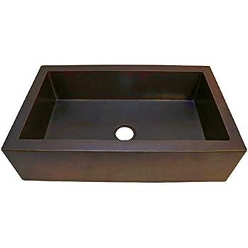 Soluna Farmhouse Copper Sink 36 Quot Hammered Copper Sink In