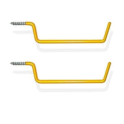 2pc Extra-Long Heavy-Duty Garage Wall Ladder Hanger Hooks