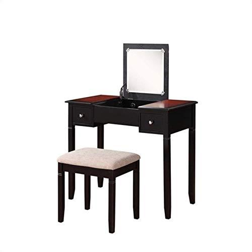 Riverbay Furniture Vanity Set in Black Cherry