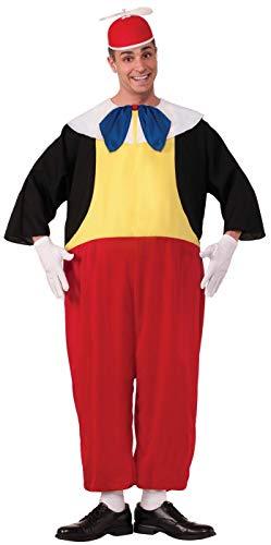 Forum Novelties Men's Tweedle Dee Costume, Red/Black/Yellow, Standard -