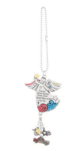 Ganz Guardian Angel Color Art Car Charm ~ Never Drive Faster Than Your Guardian Angel Can Fly