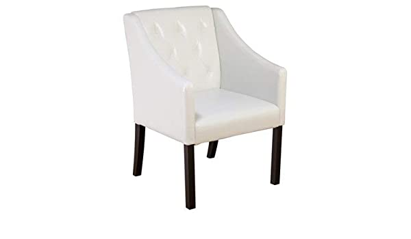 Fantastic Amazon Com Faux Leather Accent Chair Accent Tufted Ibusinesslaw Wood Chair Design Ideas Ibusinesslaworg