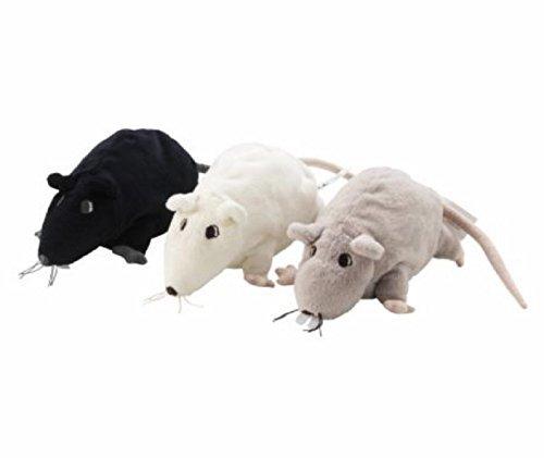 IKEA Gosig Ratta Rat Mouse Stuffed Animal Soft Toy, 9 Inches, Black