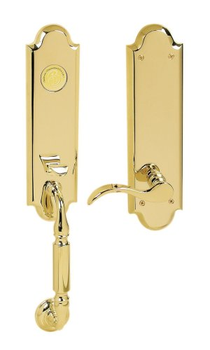 Baldwin 85350.003.LFD Manchester Emergency Exit Dummy Handleset with Wave Lever, Lifetime Polished Brass ()
