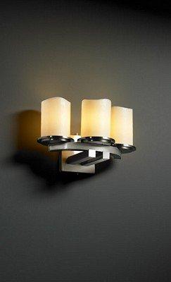 Dakota Nickel 3 Curved Light Candle Shades