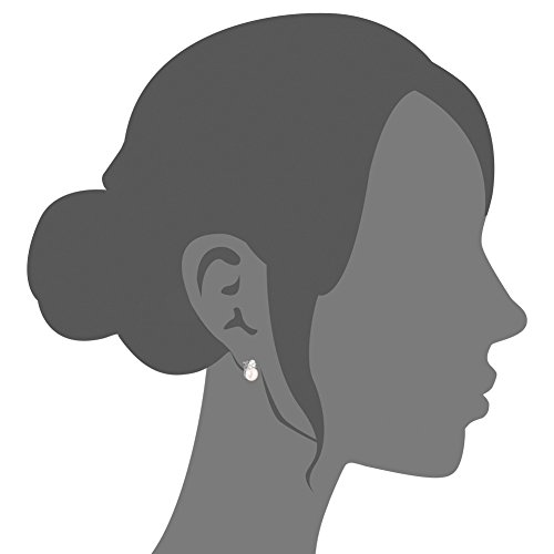 SWEETIE- Micro Pave AAA Zircon 925 Pur Argent Clous d'oreilles, perles d'eau douce, platine plaque, 13mm