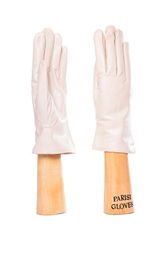 Parisi Gloves - Italian Leather Gloves for Women - Wool LINING - 2pH (7, BEIGE)