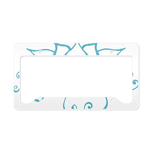 CafePress - Namaste Lotus Flower License Plate Holder - Aluminum License Plate Frame, License Tag - Tag Lotus