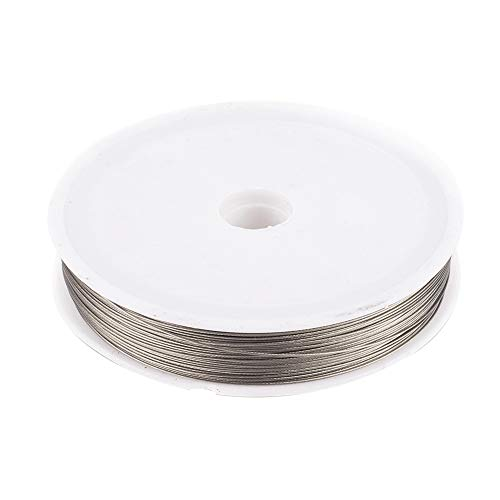 Spool 90M 0.38mm Silver Tiger Tail Beading Wire Jewelry Craft Findings DIY
