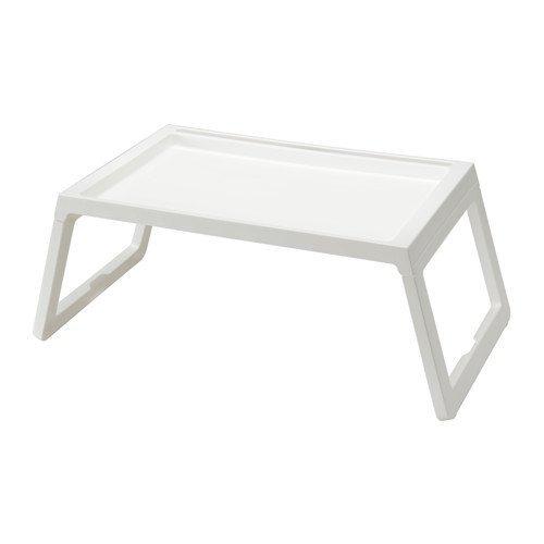 Ikea Klipsk Foldable Bed Tray, white (White Tray Table Bed)