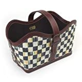 Mackenzie Childs Coultry Check Catch-All Basket 100% Authentic. Small Cosmetic Blemishes.