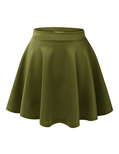 Olive Mini Skirt - 4