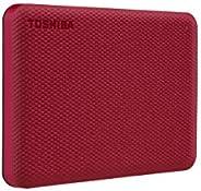 HD Externo Toshiba 1TB Canvio Advance VERMELHO - HDTCA10XR3A