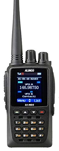 Gps Transceiver - Alinco DJ-MD5TGP Dual Band DMR VHF/UHF HT Part 90 with GPS Transceiver