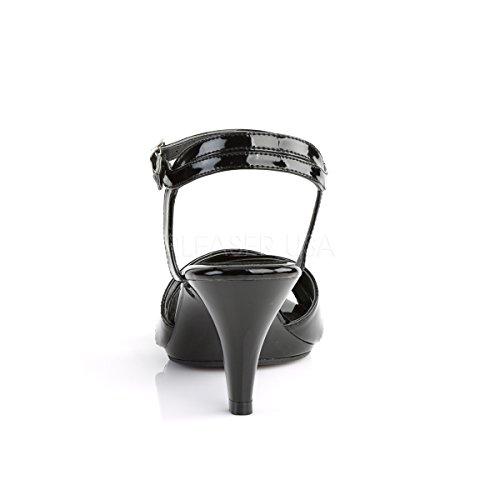 Fabulicious Damen Sandalen Sandaletten Belle-315 Lack schwarz Lack Schwarz