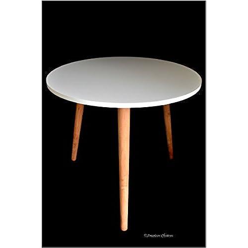 Retro Mid Century Modern Danish Style White Wood U0026 Melamine Accent Side  Table