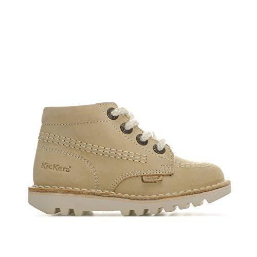 Kickers Boy's Kick Hi Nubuck Boots 12 Child Cream