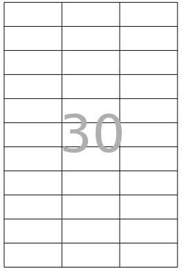 100x DIN A4 Etiketten Klebeetiketten selbstklebend Bögen weiß Größe 50 x 36 mm