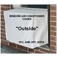 Window Air Conditioner Covers - To keep out cold drafts - Outside Window/thru Wall Cover - 24W, 21H, 21D - GRAY