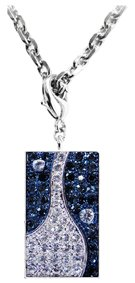 Pretec i-Disk 8GB USB flash drive designed in a stylish pendant embellished with Swarovski crystals