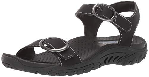 - Skechers Women's Reggae-Always Strapped-Double Buckle Strappy Slingback Sandal, Black, 11 M US