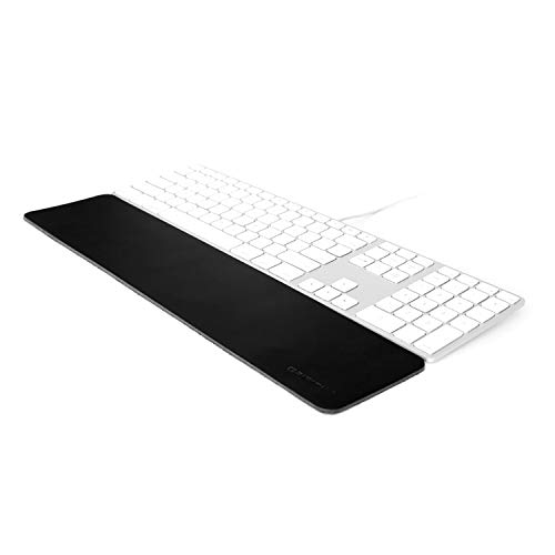 GRIFITI Leather Slim Wrist Pad 17 4 x 17 x 0.125 Wrist Rest Compatible with Apple Wired Keyboard, Wireless and Magic TrackPad, Anker, Rupoo, IOGear, Macally, Logitech, GMYLE, Gear Head, Genius, SIIG