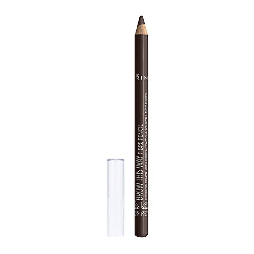 Rimmel Brow This Way Fibre Pencil, Dark Brown, 0.05 Ounce 0.05 Ounce Eye Pencil