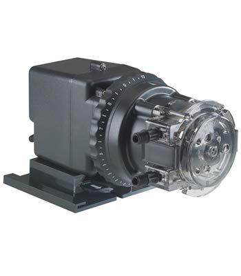 Stenner 85MJH2A1STAA Single Head Adjustable Mechanical Feed Peristaltic Pump, 17 GPD, 115 VAC