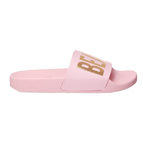Chaussons The Pink Brand White Femmes Beach Caoutchouc nYUYOqrw