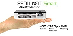 Aaxa Technologies P300 Neo Smart Android Mini Pico Projector New 2018 Model Portable Led Dlp Projector Android Wifi Bluetooth Hdmi Business Home Theater Renewed