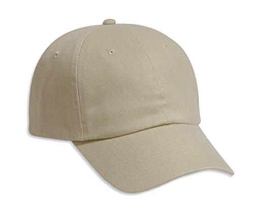Hats & Caps Shop Brushed Bull Denim Low Profile Pro Style Caps - Khaki - By TheTargetBuys