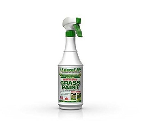 Lawnlift Pre-Mixed Grass Paint 32 Ounce Ready to Spray, No Mixing, 32 oz., ()