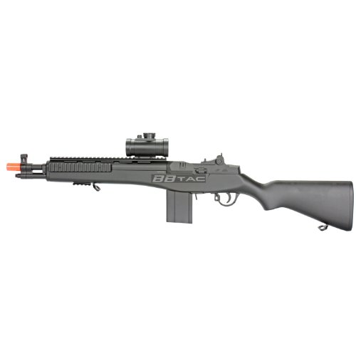 BBTac M305P Airsoft Gun M14 RIS Full Sized Spring Airsoft Rifle with Scope with Warranty (Socom Rifle Spring M14)