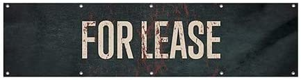12x3 CGSignLab Ghost Aged Rust Wind-Resistant Outdoor Mesh Vinyl Banner for Lease