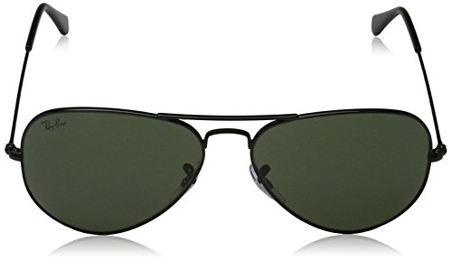 Ray-Ban Mens Original Aviator Sunglasses (RB3025) Black/Grey Metal - Non-Polarized - 58mm by Ray-Ban