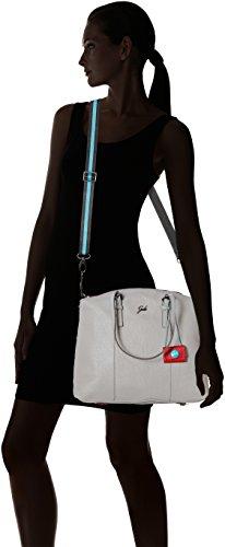 GABS - Amanda Tg M Black - Shopping Palmellato, Borsa Donna Grigio (Grigio Perla)