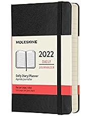 Moleskine 12 Monate Tageskalender 2022, Pocket/A6, 1 Tag = 1 Seite, Gebunden, Schwarz