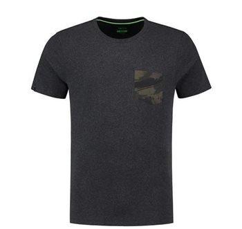 Korda Faux Pocket Tee Charcoal T-Shirt Tshirt T Shirt Angelshirt Bekleidung Bekleidung Angelsport
