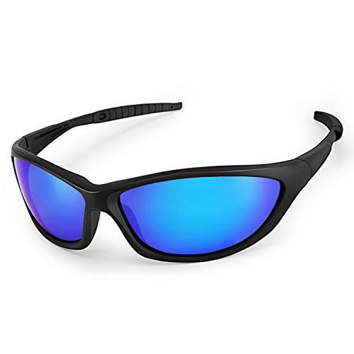 LATEC Gepolariseerde sportzonnebril Lichtgewicht bril met UV400-bescherming & TR90 Onbreekbaar montuur voor mannen Dames…