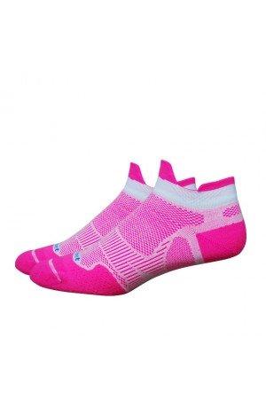 Defeet Meta Tabby Cycling/Running Socks - METAT (Hi-Vis Pink/White - (Defeet Pink Running Socks)