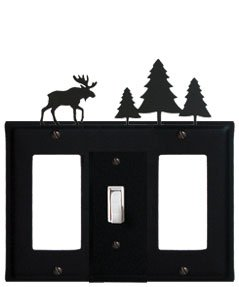 EGSG-22 Moose & Pine Trees GFI Switch GFI Electric Cover ()