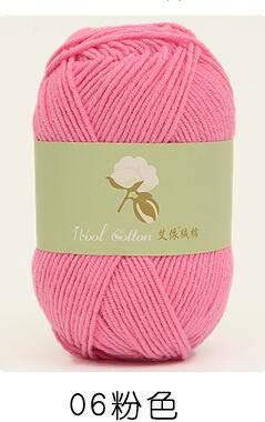 Knitting Yarn - 1Pc=50g Hand Knitting Yarn Cotton Blended Fiber Organic Yarn for Knitting Baby Clothes Doll 4 plys