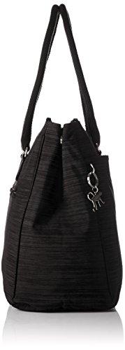 Kipling New Halia, Bolsa de Asa Superior para Mujer Negro (REFH53 Dazz Black)