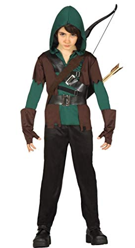 Boys 4 Piece Green Medieval Archer Robin Hood Halloween Fancy Dress Costume Outfit 3-9 Years (7-9 Years)