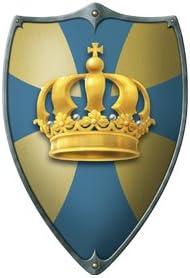 /Knights Shield Crown Wood Spielerei 53573/