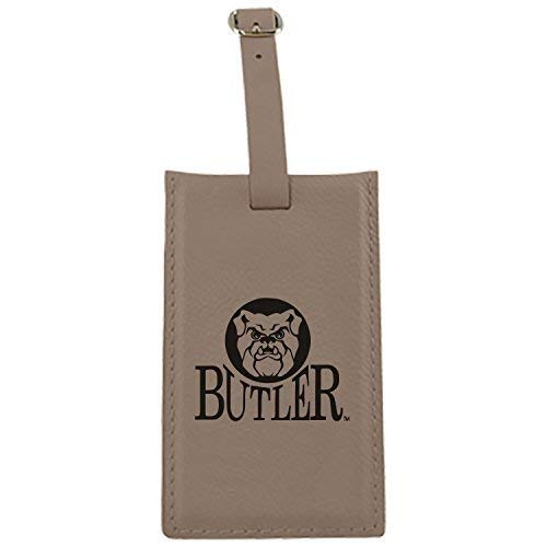 Butler University – Leatherette Luggage tag-tan   B013VZCUH6