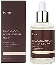 IUNIK Beta-Glucan Power Moisture Serum with natural ingredients from mushrooms give moisture & nutrition & soothing care - No stickness No Hassles - 1.71 OZ