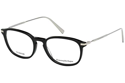 Ermenegildo Zegna EZ5051-001 Eyeglass Frame shiny black frame w/Clear Demo Lens 50mm from Ermenegildo Zegna