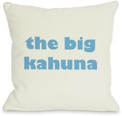 One Bella Casa The Big Kahuna Throw Pillow by OBC, 26 x 26 , Ivory Blue